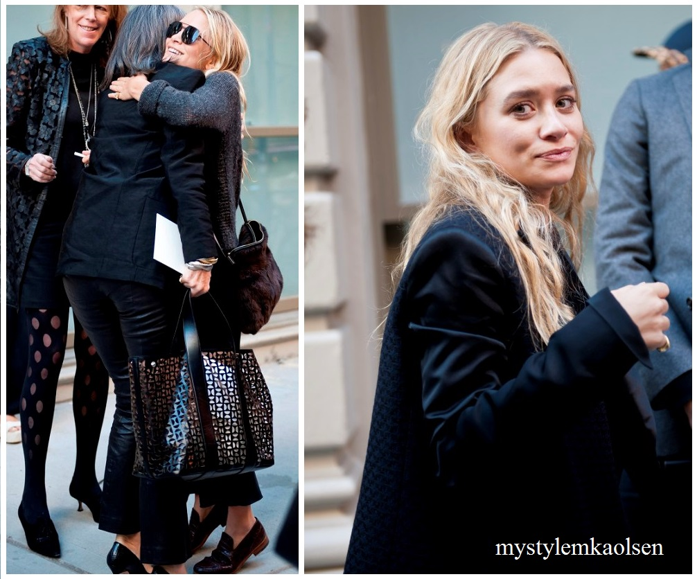 Mary Kate Ashley Olsen Fashion Week Street Style 2013 Mystylemkaolsen