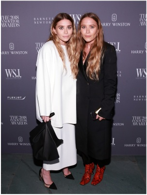NEW YORK, NY - NOVEMBER 07: Ashley Olsen and Mary-Kate attend WSJ Magazine 2018 Innovator Awards Sponsored By Harry Winston, FlexJet & Barneys New York at MOMA on November 7, 2018 in New York City. (Photo by Bennett Raglin/Getty Images for WSJ. Magazine Innovators Awards)